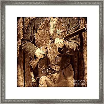 New Sheriff In Town Framed Print by American West Legend By Olivier Le Queinec