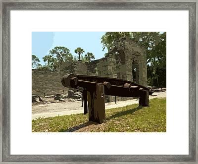 New Smyrma Sugar Mill Framed Print by Allan  Hughes