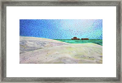 New Smyrna Beach As Seen From A Dune On Ponce Inlet Framed Print