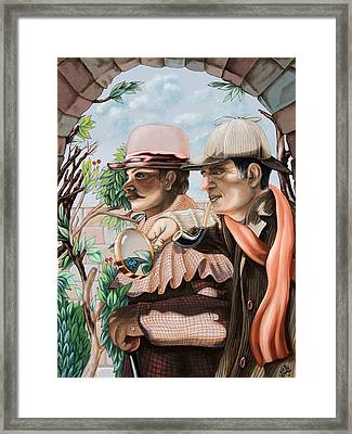 New Story By Sir Arthur Conan Doyle About Sherlock Holmes Framed Print