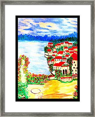 New Technique Of A Water Color Scene Framed Print by Debra Lynch