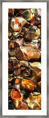 New Textures Of A Streambed Framed Print by Terril Heilman