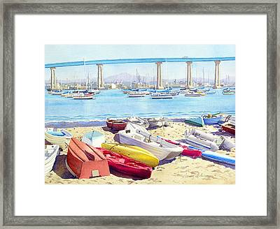 New Tidelands Park Coronado Framed Print by Mary Helmreich