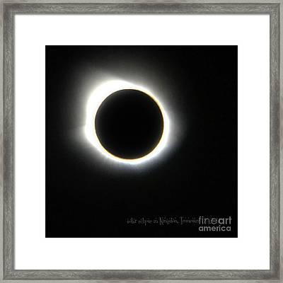 Kingston, Tn Eclipse Framed Print