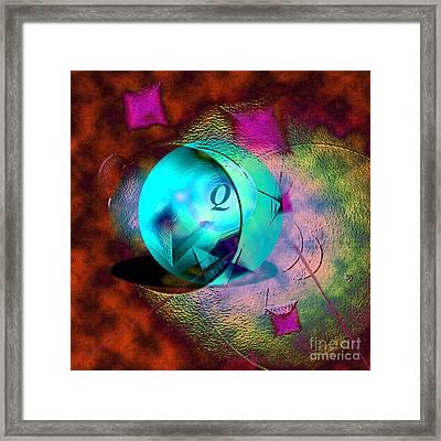 Q-ball Framed Print