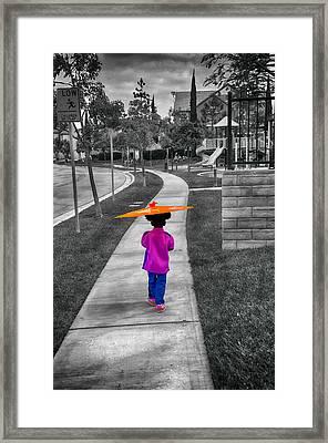 Gia Walk To Playground Framed Print by Joseph Hollingsworth