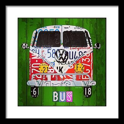 Vw Bus Framed Prints