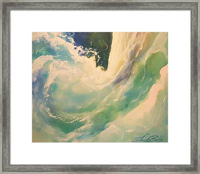 New Wave   - The Surge Framed Print by Therese Fowler-Bailey