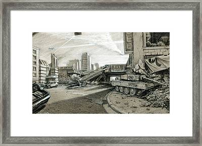 New World Order Framed Print by Nicholas Bockelman