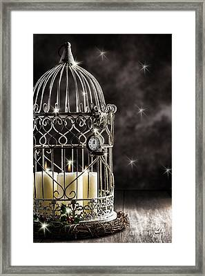 New Year Candles Framed Print by Amanda Elwell