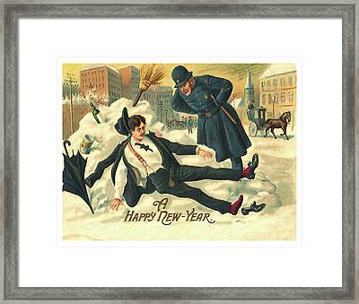 New Year Hangover Framed Print