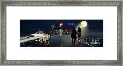 New Year On The Road Framed Print by Monika Juengling