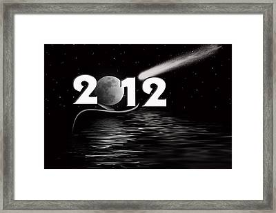 New Year Reflection Framed Print by Maria Dryfhout