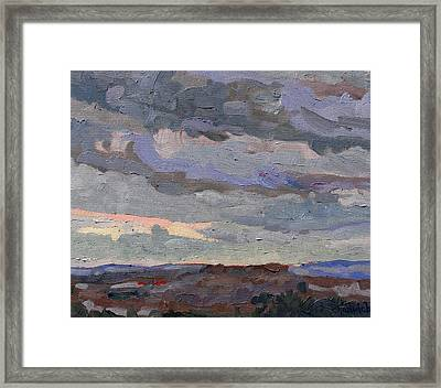 New Year Stratocumulus Framed Print