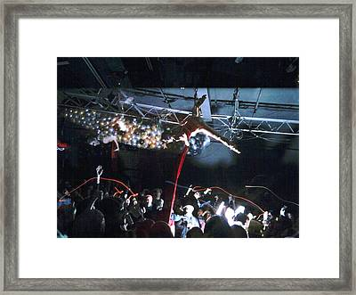 New Years Eve Human Ball Drop Framed Print