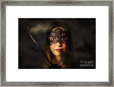 New Years Eve Mask Party Framed Print