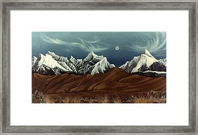 New Years Moon Over Cojata Peru Framed Print