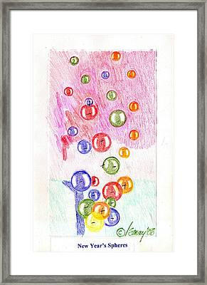 New Year's Spheres Framed Print by Rod Ismay