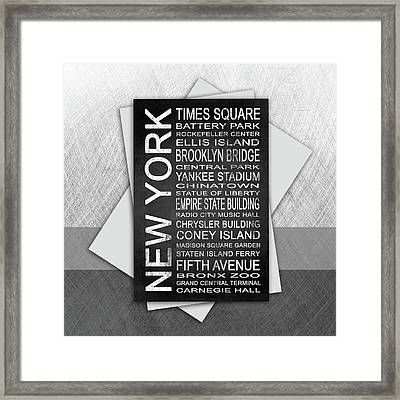 New York 1 Subway Framed Print by Melissa Smith