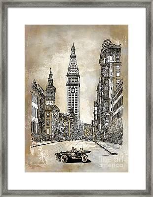 New York 1910 Framed Print by Andrzej Szczerski
