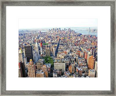 New York Aerial View Framed Print
