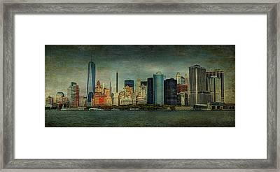 Framed Print featuring the mixed media New York After Storm by Dan Haraga