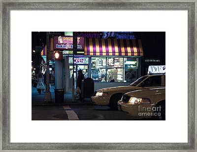 New York At Night  Framed Print by John Farnan
