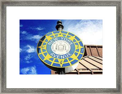 New York Avenue Atlantic City Framed Print by John Rizzuto