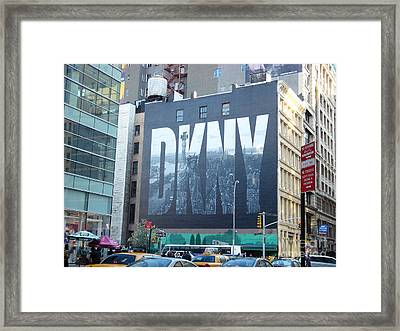 New York Billboard Framed Print
