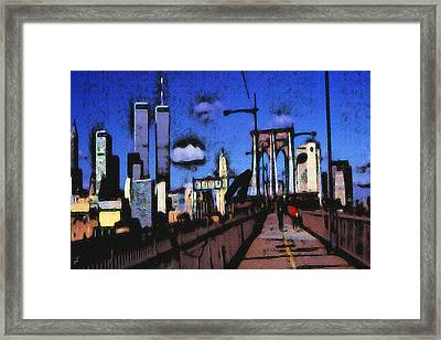 New York Blue - Modern Art Framed Print