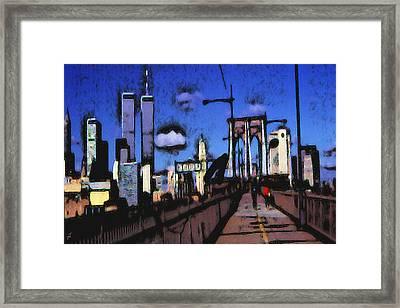 New York Blue - Modern Art Framed Print