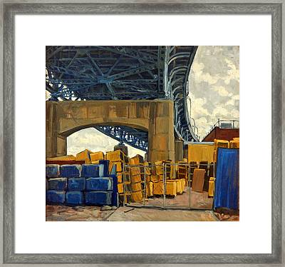 New York Blue Framed Print