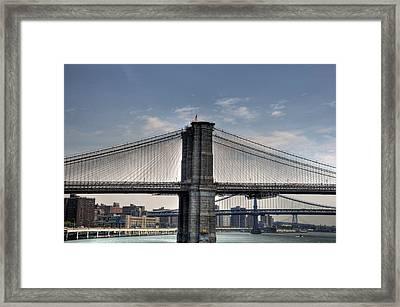 New York Bridges Framed Print by Kelly Wade