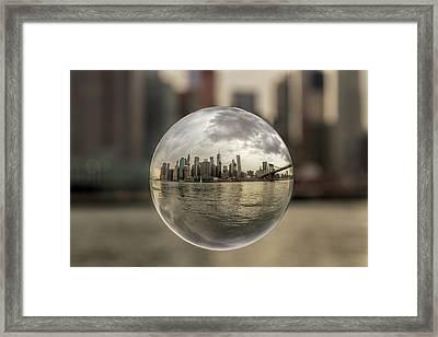 New York Bubble Framed Print by Zev Steinhardt
