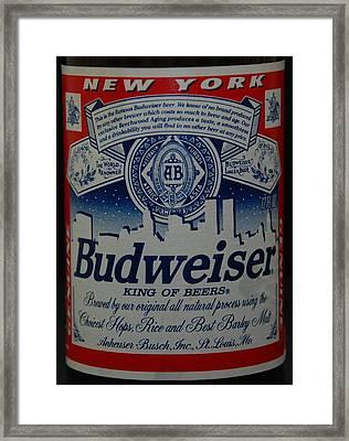 New York Bud Framed Print