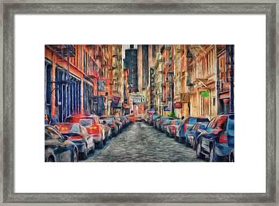 New York Busy Day Framed Print by Yury Malkov