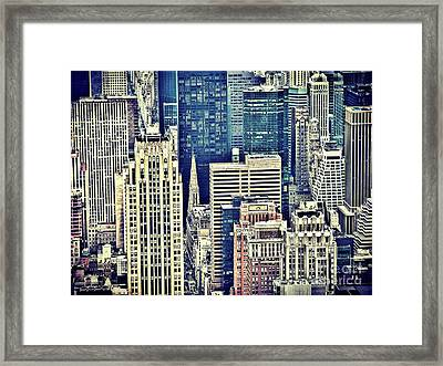 New York By Raphael Terra Framed Print by Raphael Terra