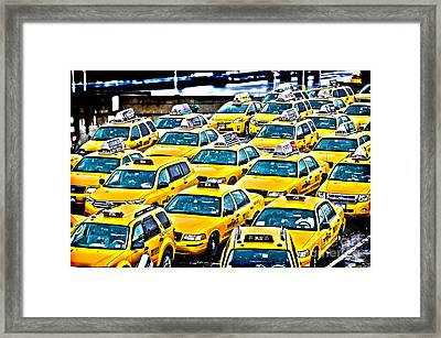 New York Cab Framed Print by Alessandro Giorgi Art Photography