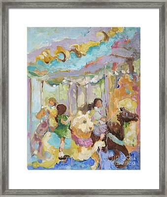 New York Carousel Framed Print
