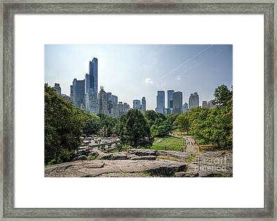 New York Central Park With Skyline Framed Print