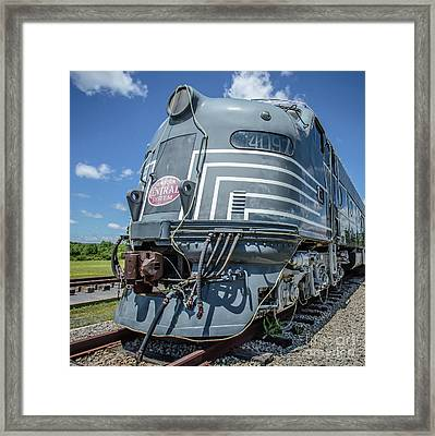 New York Central System Locomotive Vintage 2 Framed Print by Edward Fielding