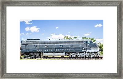 New York Central System Locomotive Vintage 3 Framed Print by Edward Fielding