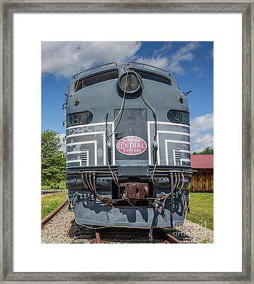 New York Central System Locomotive Vintage Framed Print by Edward Fielding