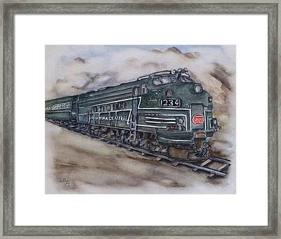 New York Central Train Framed Print by Kelly Mills