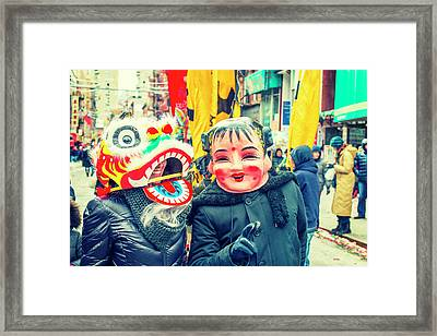 New York Chinatown Framed Print