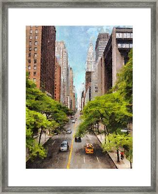 New York Chrysler Building Art Painting Framed Print by Wall Art Prints