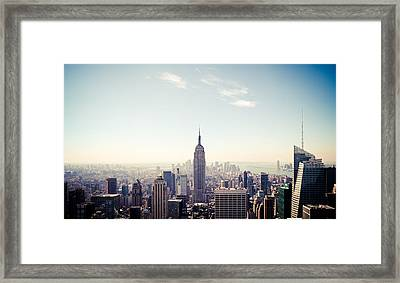 New York City - Empire State Building Panorama Framed Print by Thomas Richter