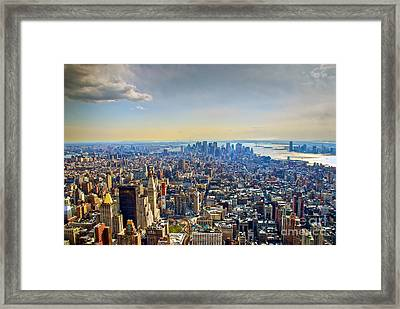 New York City - Manhattan Framed Print