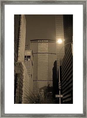 New York City 1982 Sepia Series - #7 Framed Print