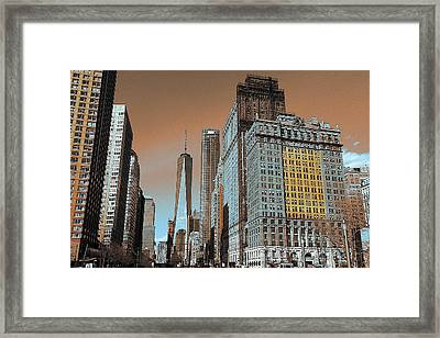 New York City 2017 Framed Print by Art America Gallery Peter Potter